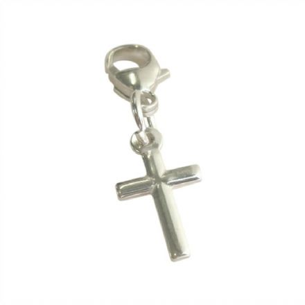 Simple Cross Charm on Lobster Clasp